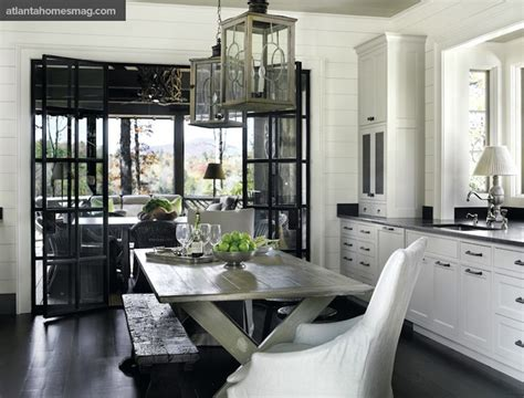 gray dining table transitional kitchen atlanta homes