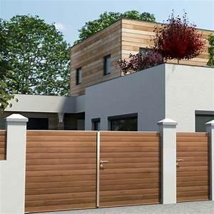 Portail Sur Mesure Castorama : castorama portillon bois ~ Carolinahurricanesstore.com Idées de Décoration