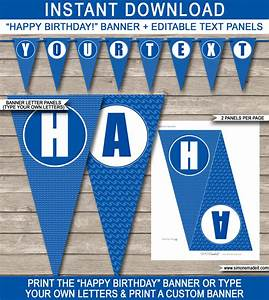 pool party banner template happy birthday banner With happy birthday letter banner