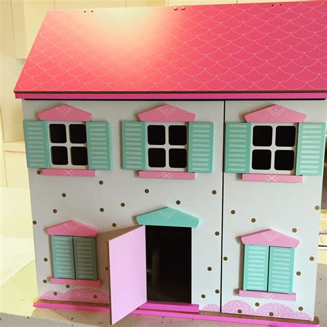 modern dollhouse diy   paint  wooden dollhouse