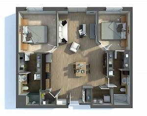 2 bedroom apartment house plans for Two bedroom apartment plan