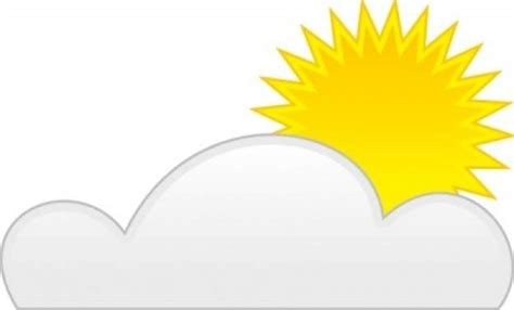 Sun clipart sun cloud - Pencil and in color sun clipart