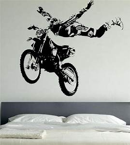 motor cross giant wall art stickers motor bike wa161 With good look motocross decals for walls