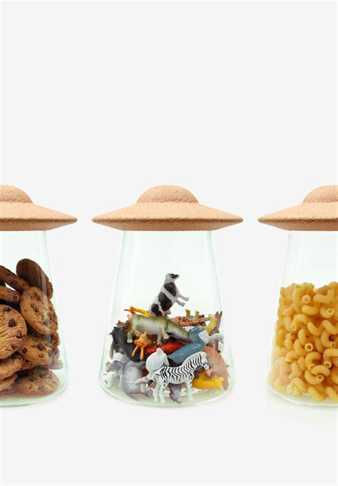 Product Of The Week A Ufo Cookie Jar by Ufo Cookie Jar Cork And Glass Storage Solution