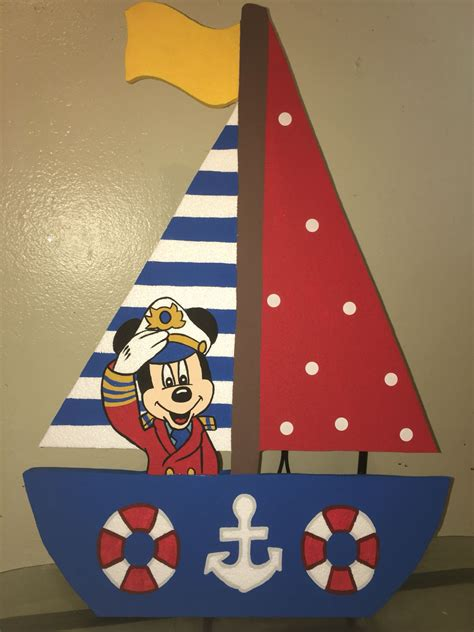 Mickey Mouse Boat by Mickey Mouse Nautical Sailor Foam Boat With Mickey Captain