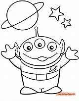 Alien Coloring Pages Toy Story Sheets Para Printable Disney Toys Drawn Colouring Drawings Colorear Drawing Cute Characters Books Dibujos Clip sketch template