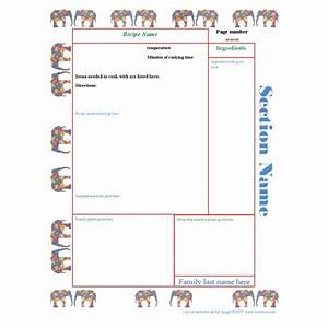 6 best images of printable cookbook templates cookbook With homemade cookbooks template