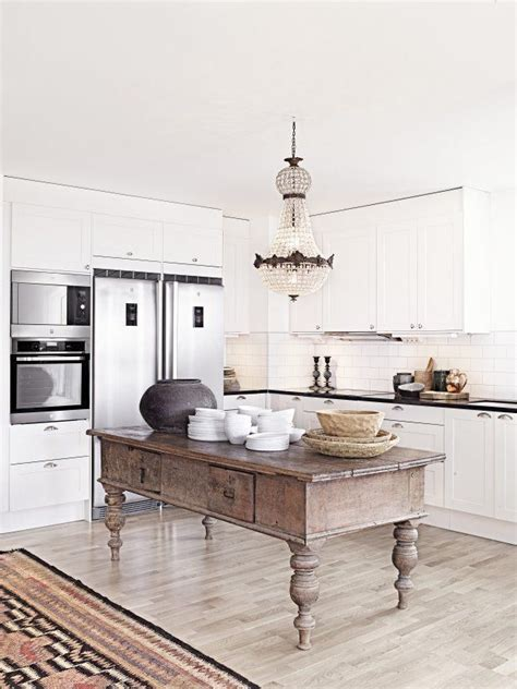 rustic kitchen island table remodelaholic decorating with style rustic glam 5003