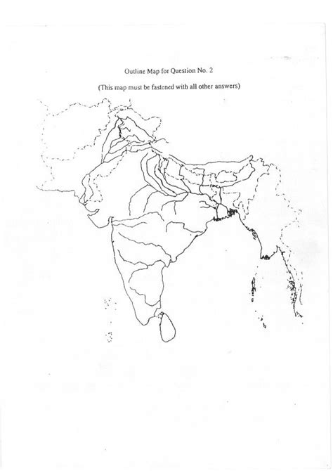 icse geography sample india map outline map outline