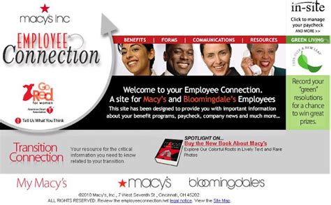 How To View My Schedule At Macy's Insite Employee Connection