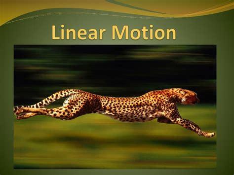 linear motion powerpoint  id