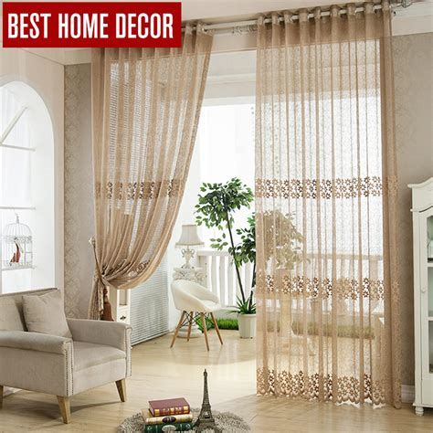 home decor tulle sheer window curtains  living