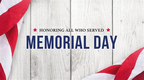 Closed Memorial Day 2019