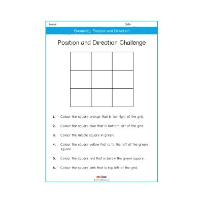 year 2 maths position worksheets geometry position and direction year 2 worksheets primary maths ks1 melloo
