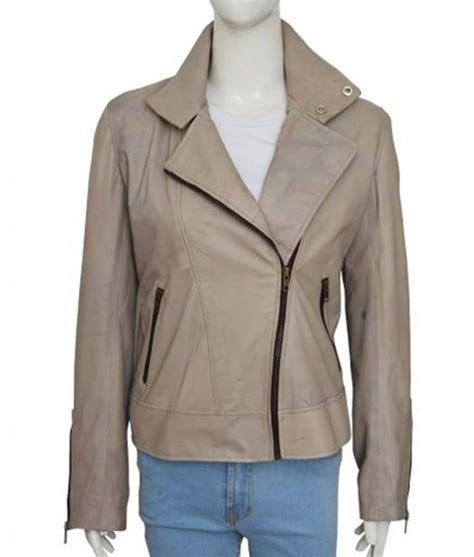 Series Lucifer Chloe Decker Grey Leather Jacket