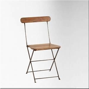 Chaise Fer Et Bois : vente de chaises pliantes en fer et bois ~ Teatrodelosmanantiales.com Idées de Décoration