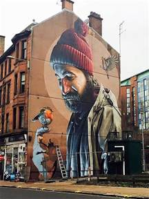 glasgow high street mural by smug