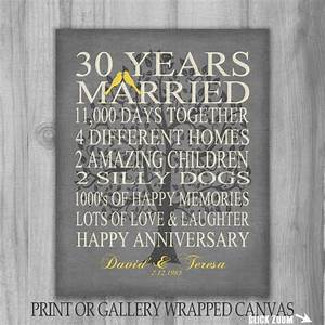30 year anniversary family tree birds gift personalized With 30 year wedding anniversary gifts
