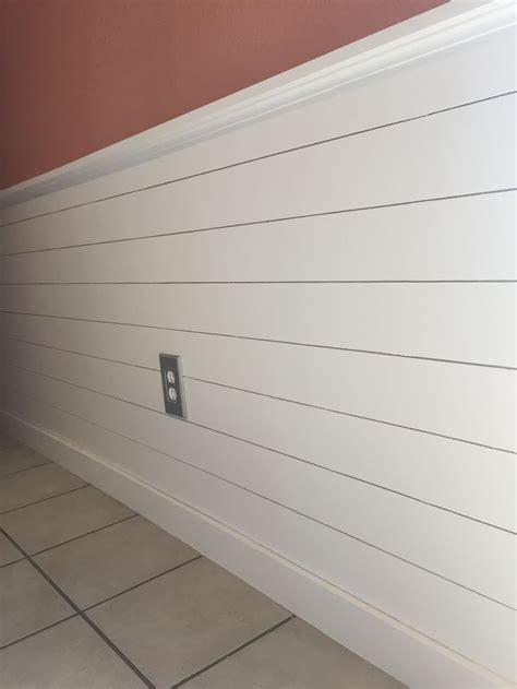 shiplap chair rail   kitchen paint color