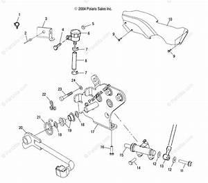 Polaris Atv 2005 Oem Parts Diagram For Rear Brake Master