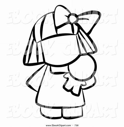 Doll Clipart Coloring Human Pages Outline Lol
