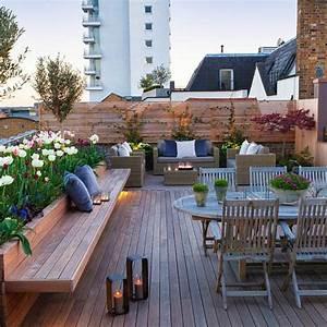 jardin exterieur en photos terrasse en bois en pleine With lovely photo amenagement terrasse exterieur 3 amenagement interieur de restaurant plan de maison plan