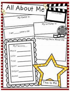 All about me hollywood theme student information for About me template for students