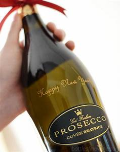 wine champagne whiskey bottle engraving examples With custom prosecco bottles