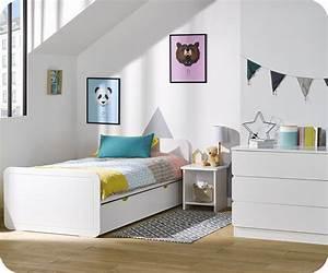 Lit Enfant 4 Ans : chambre enfant lemon blanche set de 3 meubles ~ Teatrodelosmanantiales.com Idées de Décoration