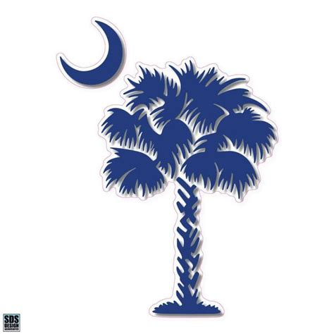 palmetto tree  decal palmetto moon