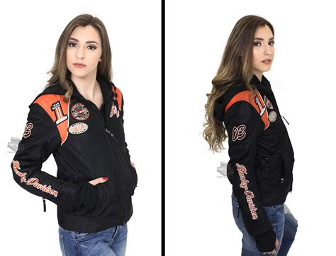 harley davidson 174 womens cora 3 in 1 black casual jacket