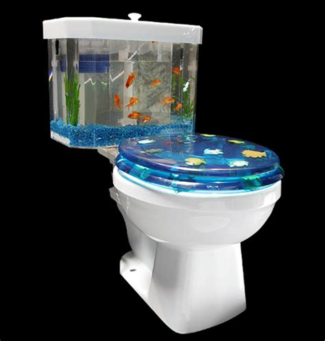 Lava Lamp Fish Tank by Toilet Aquarium Gadgetking Com