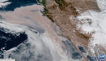 California Satellite Wildfires West Imagery Animated Oregon