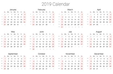 calendar template full year full year calendar for 2019 free printable 2018 calendar