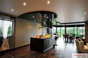 faux plafond design cuisine 7 cuisine le plafond tendu With plafond de cuisine design