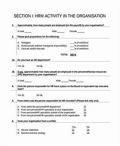 Free 9 Hr Questionnaire Examples Samples In Pdf Examples