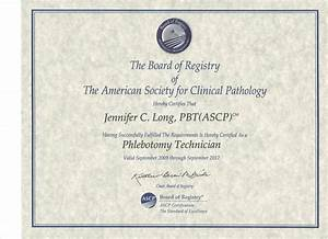 Jenny and eric long it finally came in the mail for Ascp phlebotomy certification
