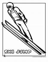 Coloring Ski Jump Winter Pages Olympic Clip Jumping Clipart Activities Olympics Skiing Cliparts Hockey Games Printables Preschool Crafts Downhill Bobsled sketch template