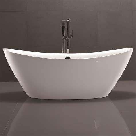 free standing soaker tubs vanityart 71 quot x 34 quot freestanding soaking bathtub wayfair ca