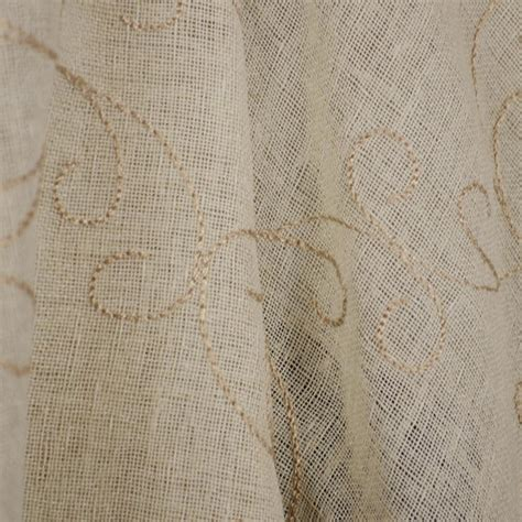 portico pistacchio embroidered scroll sheer fabric