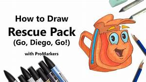 How to Draw and Color Rescue Pack from Go, Diego, Go! with ...