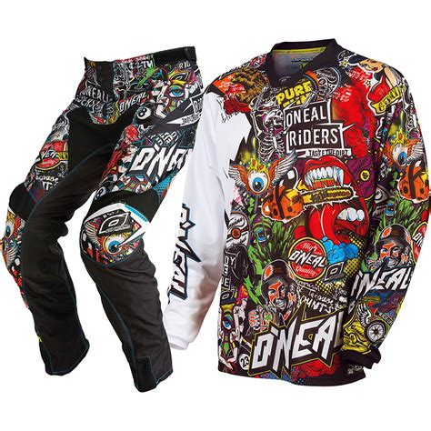 motocross gear oneal mx new 2017 mayhem crank dirt bike black multi