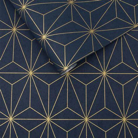 prism navy gold wallpaper graham brown uk graham