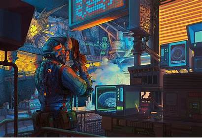 Scifi Retro Lab Artwork Wallpapers Artist Digital