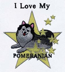 pomeranian dog embroidery designs machine embroidery