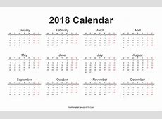Free Printable Calendar 2018 with Holidays in Word, Excel, PDF