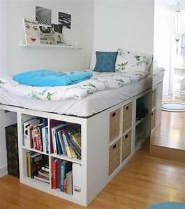 Ikea Hacks Podest : ze zet een paar ikea kallax kasten tegen elkaar aan het resultaat is perfect voor iedere ~ Watch28wear.com Haus und Dekorationen