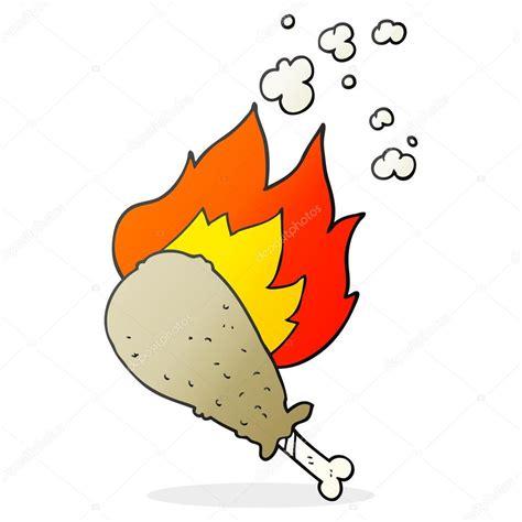 dessin animé de cuisine dessin animé cuisiné cuisse de poulet image vectorielle