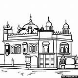 Temple Golden Clipart Amritsar India Punjab Coloring Sketch Pages Pencil Cliparts Template Colouring Clip Simple Animated Clipground Library Skech Templates sketch template