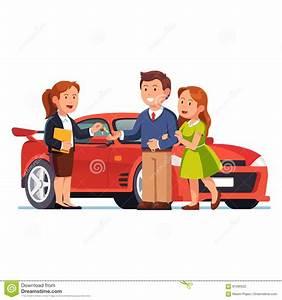 Kostenlos Auto Mieten : junge paare die neues rotes auto kaufen oder mieten vektor abbildung illustration von ~ Eleganceandgraceweddings.com Haus und Dekorationen